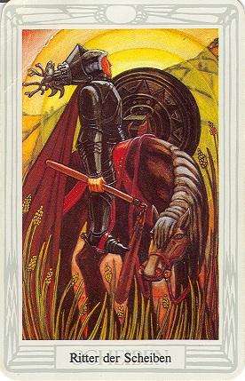 Tarotkarte Ritter Der Scheiben