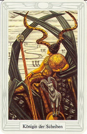 Tarotkarte Königin Der Scheiben