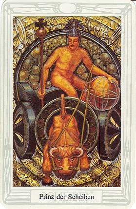 Tarotkarte Prinz Der Scheiben