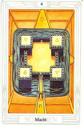 Tarotkarte Vier Der Scheiben Macht