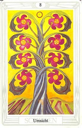 Tarotkarte Acht Der Scheiben Umsicht