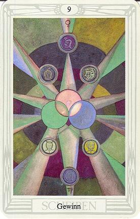 Tarotkarte Neun Der Scheiben Gewinn
